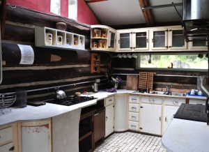 The log cabin kitchen small